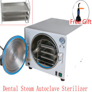 18l Dental Autoclave Steam Sterilizer Medical Sterilizition Curing Light Lab Ce