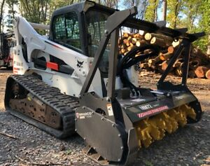 2016 Bobcat T870 W brand New Bradco Mm72 Forestry Mulcher 2370