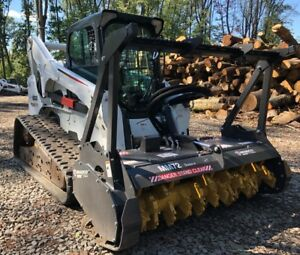 2012 Bobcat T870 W brand New Bradco Mm72 Forestry Mulcher 2371