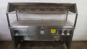 Hch Pizza Buffet Warmer Table Cabinet Chicken Merchandiser 208v Tested