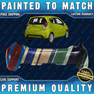 New Painted To Match Rear Bumper Cover For 2013 2014 2015 Chevrolet Chevy Spark
