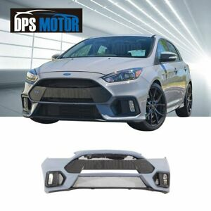 Rs Style Pp Front Bumper Body Kit Lip Grill Conversion For 2015 18 Ford Focus