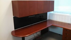 Set Of 26 Desks L Shape Corner Executive Office Furniture Desk Cabinet Steelcase