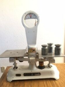 Vintage White Detecto Gram 5d Series Balance Weight General Store Candy Scale