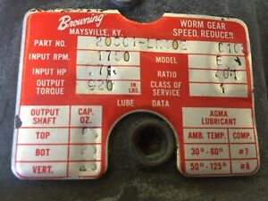 Browning Worm Gear Reducer