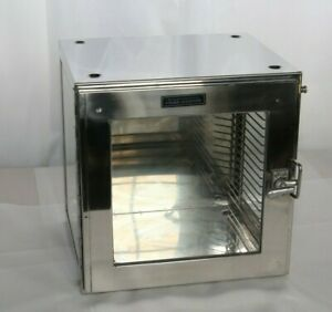 Used Fisher Scientific 12 Stainless Steel Glass Dessicator