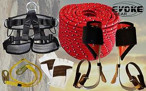 Tree Climbing Spike Set Aluminum Spurs Climbers Harness 1 2 Glove 1 2 rope