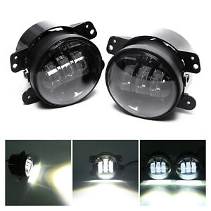 Cree 4 Inch Black Led Spot Passing Fog Lights Lamp For Jeep Wrangler Jk Cj Tj