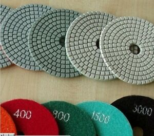 4 Diamond Polishing Pad 810 Piece Granite Concrete Marble Glass Travertine Tile