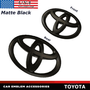 Matte Black Front And Rear Car Badge Emblem For Toyota 86 Gt86 Frs Toyota