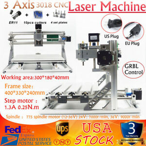 3 Axis 3018 Cnc Grbl Control Mini Router Wood Engraving Milling Machine Printer