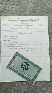Ridgeway Dynamo Engine Co Letterhead Steam Engine Hit Miss