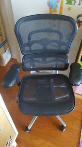 Used Back to school Raynor Ergohuman Mesh Office Chair In Black Me8erglo Parts