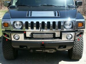 6pc Stainless Steel Front Bumper Trim Hv43008 For Hummer H2 2003 2009