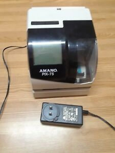 Amano Pix 75 Time Clock Used Good Condition No Key