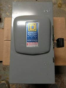 Square D D223n Fusible 100a Amp 240v Safety Switch Disconnect Single phase
