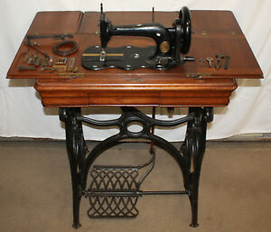 1871 Singer Sewing Machine New Family Model 12 Treadle Mother Of Pearl Inlay