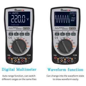 2in1 Mustool Mt8206 Digital Intelligent Storage Hd Oscilloscope Multimeter Ac dc