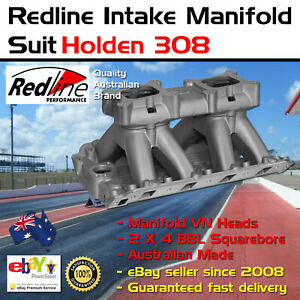 New Intake Inlet Manifold Twin Carb Tunnel Ram Fits Holden V8 Vn Head