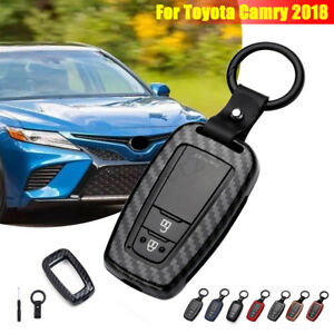 Carbon Fiber Style Key Fob Remote Cover Protector Shell For Toyota Camry 2018