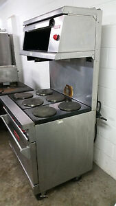 Vulcan E36l 378 6 Burner Electric Range Broiler Cheese Melter 480 Volt 3 Phase