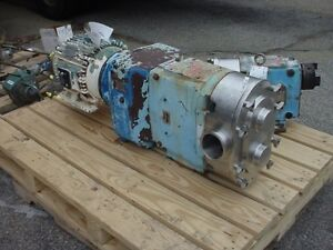 4 Inch Waukesha Stainless Steel Displacement Pump Model 220