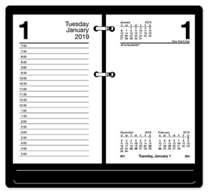 At a glance 8 Count 2019 Daily Desk Calendar Refill 3 5x6 Recycled Loose Leaf
