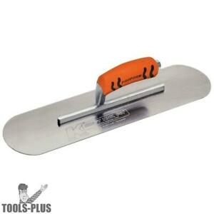 Kraft Tool Cf445pf 24 X 5 Carbon Steel Concrete Finishing Pool Trowel New