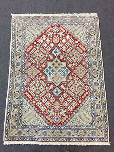 On Sale Fine Hand Knotted Persian Naein Naeen Silk Wool Rug Carpet 2 6 X3 5