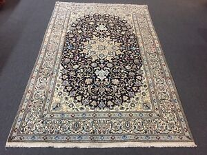 On Sale Fine Hand Knotted Persian Naein Naeen Silk Wool Rug Carpet 6 4 X9 11
