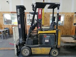 Yale 5500 Lb Electric Forklift With Side Shift Needs Work Not Currently Working