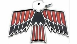 Oer 9785962 Emblem Fuel Door Chrome black red Firebird Logo Pontiac Ea