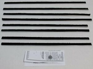 1963 1965 Ford Fairlane 2 Door Hardtop Window Weatherstrip 8 Pcs