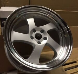 New 15 Swirl Tmb Style Wheels Rims 4 Lug 4x100 Set Of 4 Wheels