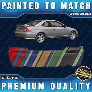 New Painted To Match Rear Bumper Cover For 2004 2005 Honda Civic Coupe 2 Door