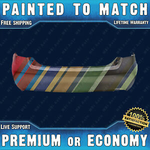New Painted To Match Rear Bumper For 2007 2011 Toyota Camry W Single Exhaust