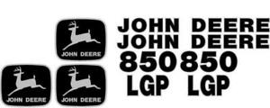 John Deere 850 Lgp Crawler Dozer Decal Set Jd Decals