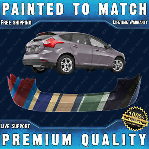 New Painted To Match Rear Bumper For 2012 2013 2014 Ford Focus Hatch 4dr 12 14
