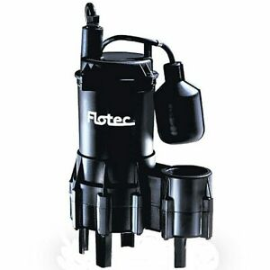 Flotec Fpse3200a 4 10 Hp Thermoplastic Sewage Pump W Piggyback Tether Float