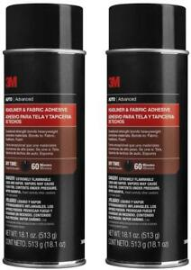 2 Cans Of 3m 38808 Headliner Fabric Adhesive 18 Oz Fan Head 3 3m 38808