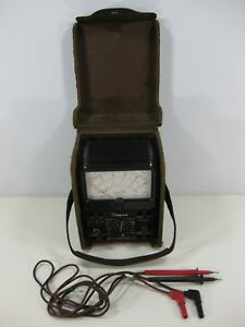 Vintage Simpson 260 Series 7 Multimeter Volt With Leads And Leather Case