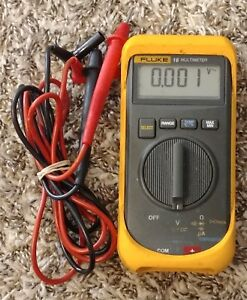 Fluke 16 Compact Digital Multimeter W fluke Leads No Case Free Shipping