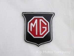 1962 Mgb Grille Badge New Production Ara1211 Wavy Reflective Background