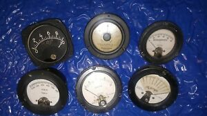 Vintage Weston Phastron Custom Western Electric Simpson Milliamperes Dc Ac Scale