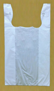 500 15x7x27 White Jumbo 27 Retail High Density Plastic T shirt Bags