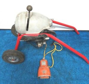 Ridgid K 1500b Drain Sewer Auger Snake Cleaner Machine W Hercules Poot Switch