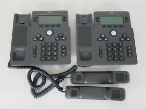 Lot Of 2 Cisco Cp 6851 Ip Phones Without Stand Tested