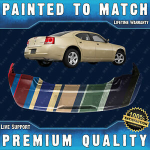 New Painted To Match Rear Bumper For 2006 2010 Dodge Charger R T Se Sxt Base