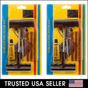 2 X 6 Pc Flat Tire Tubeless Tire Repair Kit Diy Patch For Car Truck Motorcycle
