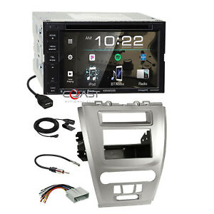 Kenwood 2018 Dvd Spotify Stereo Silver Dash Kit Harness For Ford Fusion Mercury